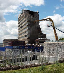 Hotel Quality being demolished