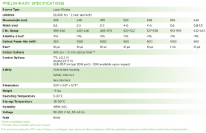LDI Preliminary Specifications